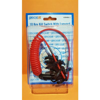 10 key kill switch with lanyard, Seadog Line